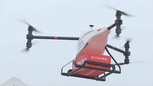 """美媒:中国无人机送货进入""""快车道"""" 或成其他国家样板"""
