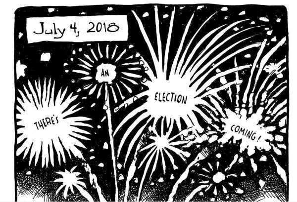 """独立日烟花都在诉说""""选举即将来临"""""""
