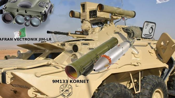 """阿尔及利亚展示改进型BTR-80装甲车 可发射""""短号""""导弹"""