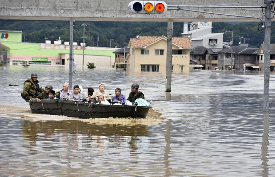 日本暴雨死亡人数升至85人 近200处河段发生河水泛滥