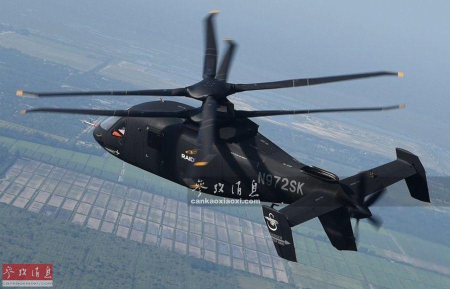 """6月28日,由美国西科斯基研发并制造的第二架S-97""""突袭者""""技术验证原型机,在佛罗里达州西棕榈滩成功完成了历时90分钟的测试飞行,标志着S-97项目将进入全面飞行试验阶段。作为目前全球速度最快的军用武直,S-97被看作是未来直升机的发展方向。图为试飞中的S-97二号原型机。29"""