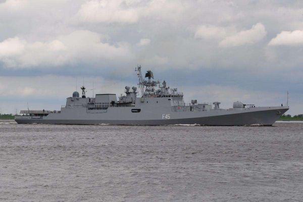图为印度海军舰艇