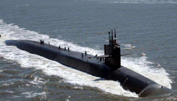 图为美海军俄亥俄级核潜艇