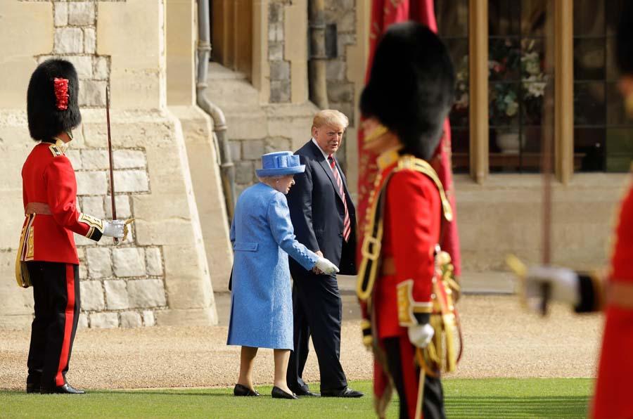 特朗普见英国女王