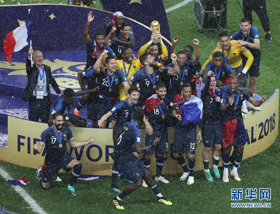 青春风暴席卷俄罗斯!法国队20年后再捧杯