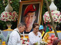 泰民众参加溺亡前特种兵葬礼