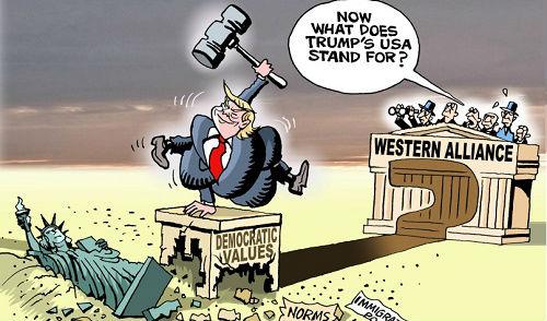 特朗普挥锤自毁美国招牌