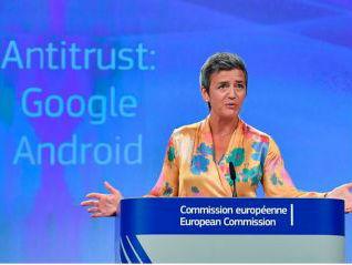 欧盟开天价罚单谷歌不服 美媒:欧盟此举或加剧与美紧张关系