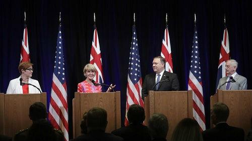 """美国务卿称中国是美""""未来数年主要难题"""" 欲以印太战略对中国"""