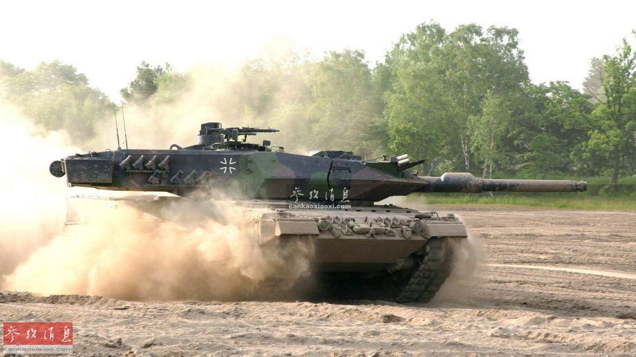 """射程5000米!德军""""豹2""""A6配强坦克炮"""