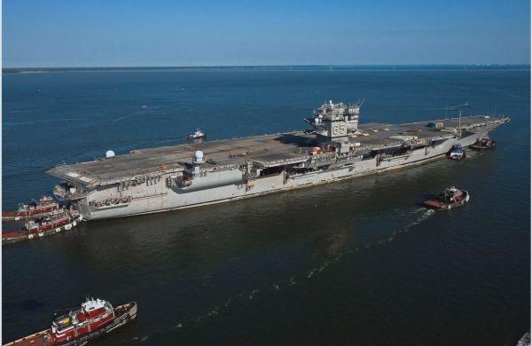 """美军首艘核动力航母""""企业""""号拆解费恐破10亿"""