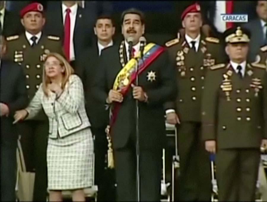 """委内瑞拉总统马杜罗遭无人机""""暗杀"""" 所幸无恙"""