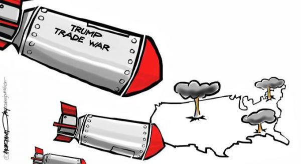 """""""特朗普贸易战""""炸弹落到美国本土"""