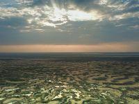 水沙共存:天空之眼瞰库布其沙漠 这里曾经寸草不生