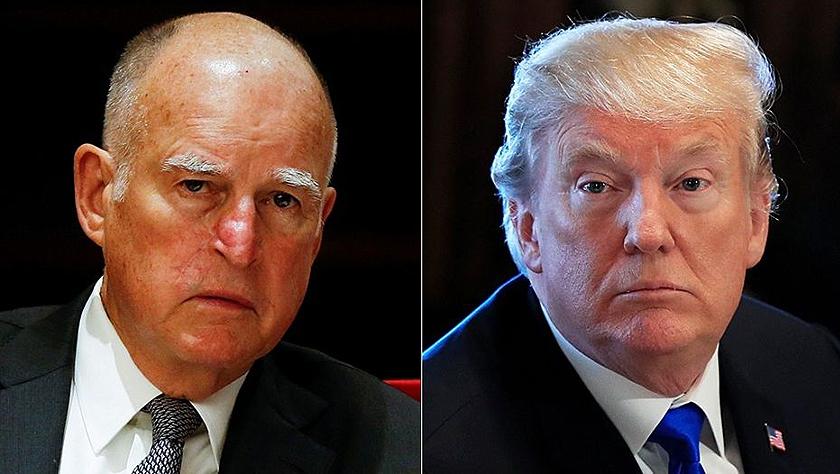 """美国加州大火谁之过?特朗普与加州州长布朗""""火上浇油"""""""