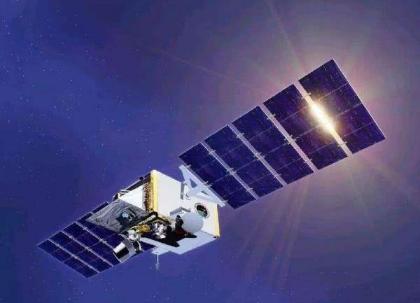 美国侦察卫星示意图。