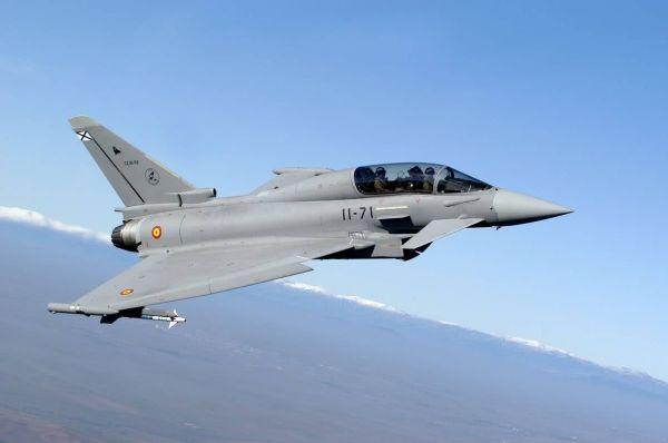 资料图:西班牙空军的台风战斗机