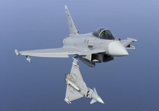 资料图:西班牙空军的台风战斗机。