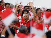新加坡庆祝独立53周年 李显龙出席国庆庆典仪式