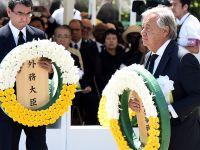 联合国秘书长古特雷斯出席日本原子弹爆炸73周年纪念仪式
