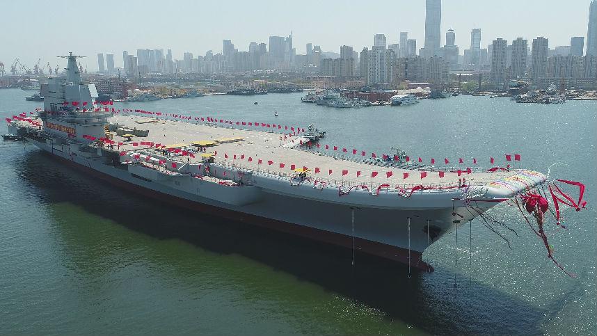 """韩媒称中国在黄海有""""重大军事活动"""":或调动首艘国产航母"""