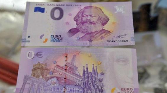 德媒:德国纪念马克思发零欧纪念钞 热销10万张1/3卖到中国