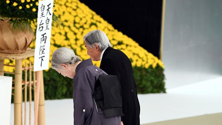 """日本明仁天皇在""""8·15""""战败日表示深刻反省"""