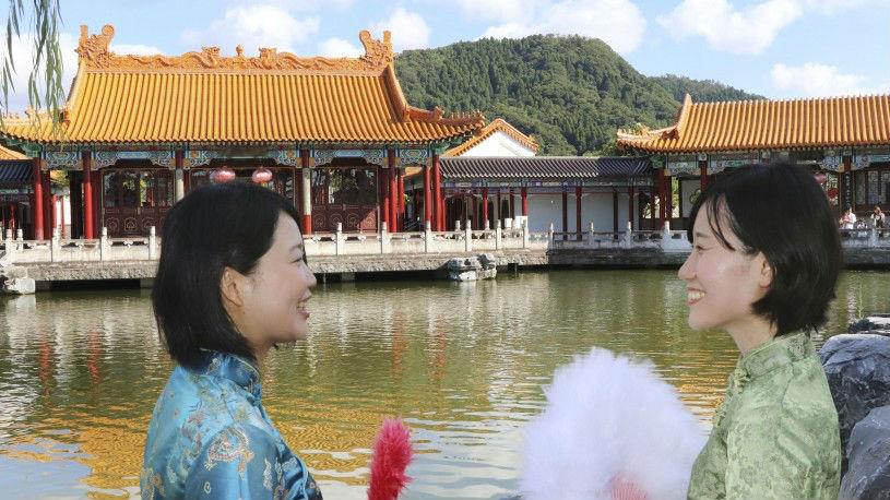 """日本""""中国风""""庭园超吸睛 游客赞叹:身在日本却宛如在中国"""