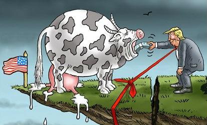 """特朗普用债务来喂""""奶牛"""""""