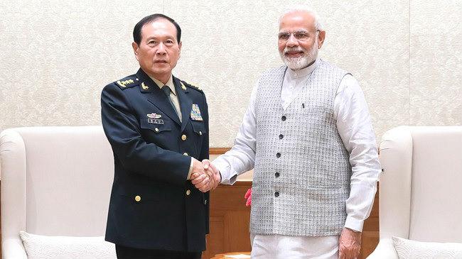印媒:中国防长访印落实互信措施 莫迪赞中印成熟处理边境分歧