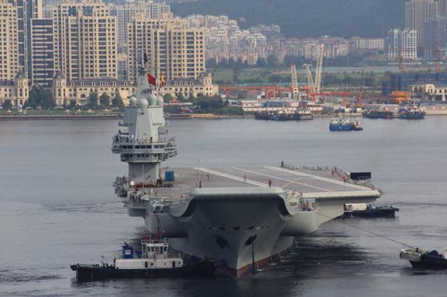 好运气!军迷航拍国产航母第二次试航