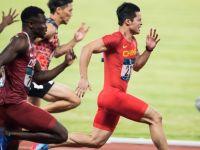 苏炳添夺得男子百米冠军 打破亚运会纪录