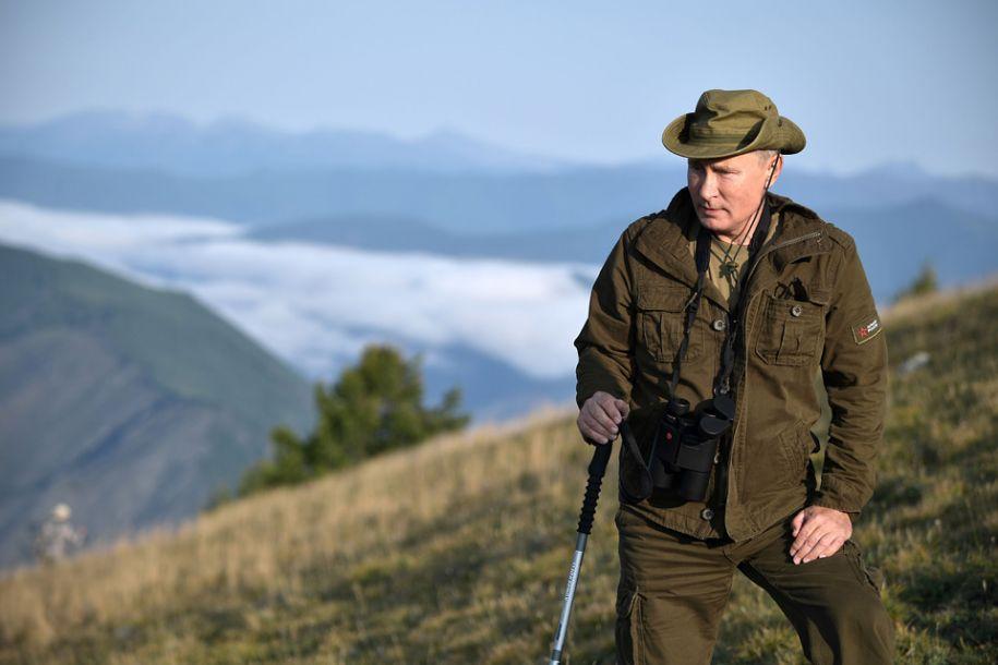 俄罗斯总统普京现身图瓦共和国度假