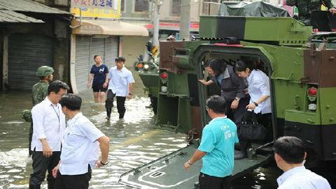 新媒:台当局应对南部水灾接连出糗 民进党形象受重挫