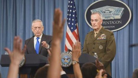 马蒂斯威胁重启美韩军演施压朝鲜 外媒:加剧美朝紧张局势