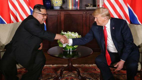 """特朗普宣称对朝鲜仍有""""耐心"""" 朝促美停止敌对落实协议"""