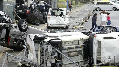 日媒:25年来最强台风登陆日本 至少9人死亡340人受伤