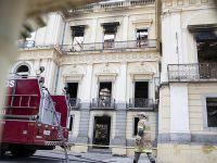 巴西國家博物館火災過后幾成廢墟