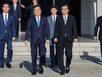 韩国方面说访朝特使团与金正恩进行了会谈