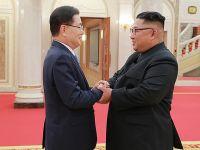 韩国访朝特使团与金正恩进行会谈