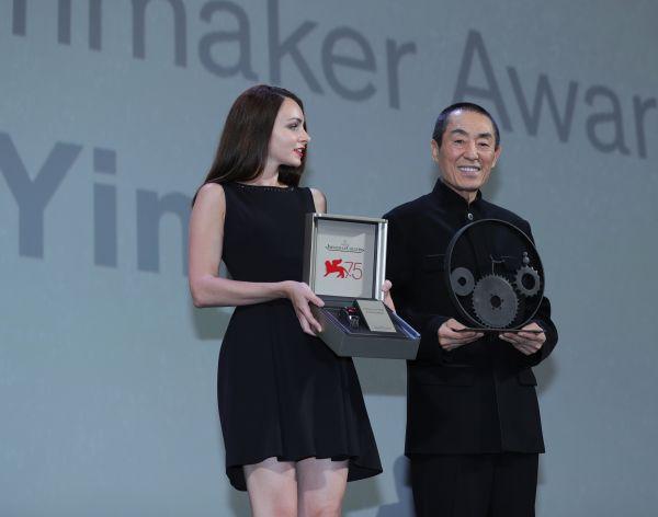 """外媒:张艺谋威尼斯电影节获颁荣誉奖 自言""""仍在学习"""""""