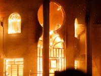 伊拉克南部抗议者对伊朗领事馆纵火