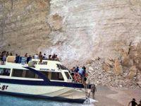 希腊悬崖落石引发巨浪致三条游船倾覆 伤者中没有中国人