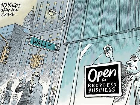 华尔街重现金融崩盘景象?