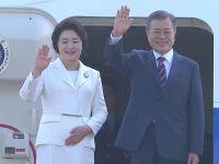 韩国总统乘专机赴朝 绕飞黄海直抵平壤