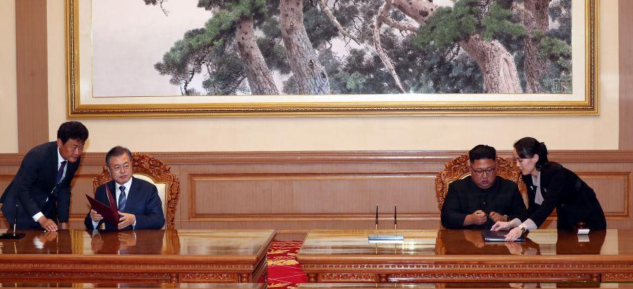 韩朝签署《9月平壤共同宣言》