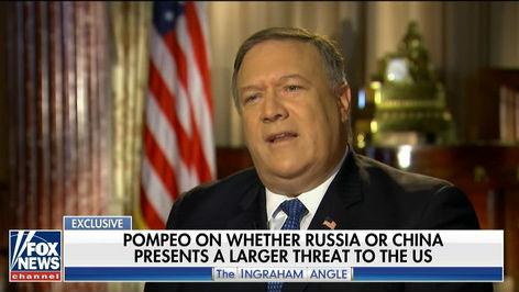 """又渲染""""中国威胁""""!蓬佩奥宣称中国对美威胁大过俄罗斯"""