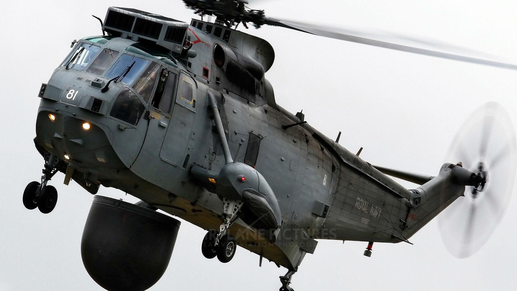 """服役近半世纪!英军最后一批""""海王""""直升机退役"""