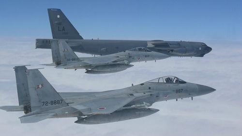境外媒体:美日战机在钓鱼岛空域联合演练 意在挑衅中国