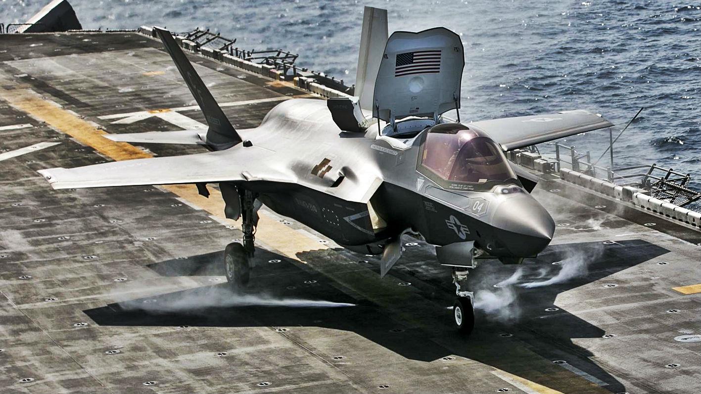 对阿塔目标发动空袭!美F-35B隐身战机首次用于实战